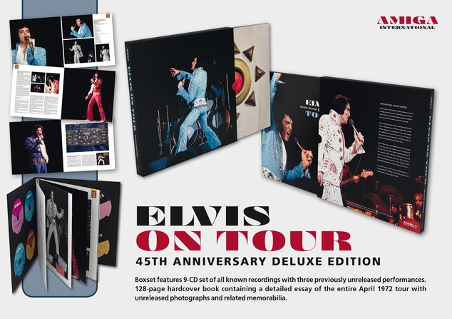 Elvis On Tour Deluxe Edition Amiga 9 CD-Set Rare - Elvis new DVD and