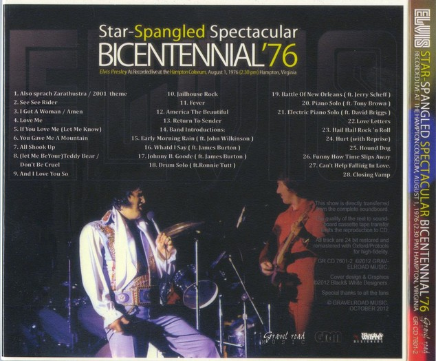 STAR-SPANGLED SPECTACULAR BICENTENNIAL '76 CD - Elvis new DVD and